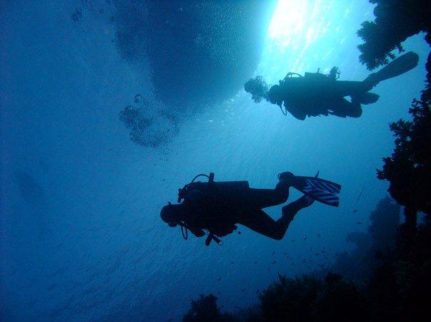 scufundari in Insula Omului, Marea Britanie