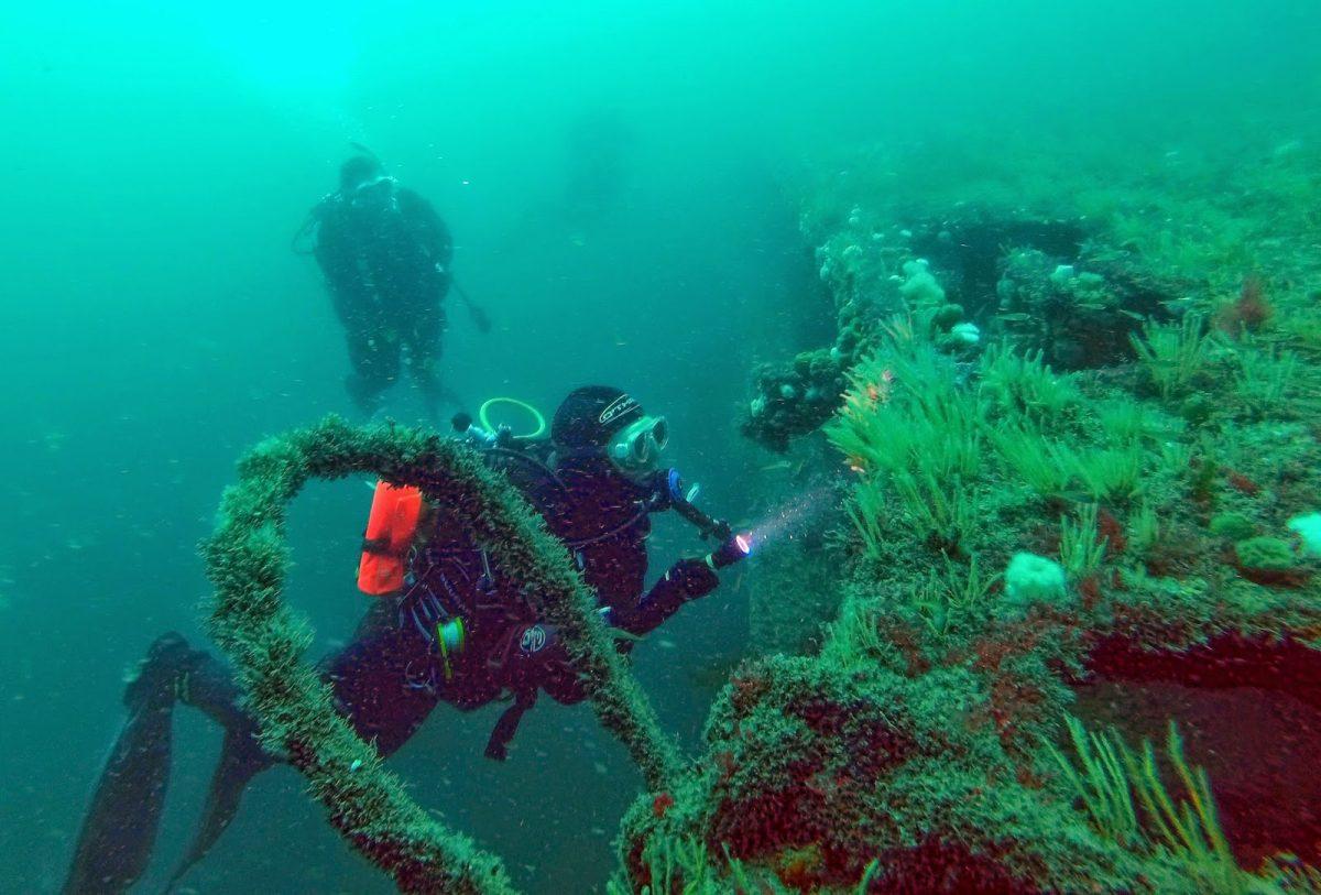 scufundari in Lundy, Canalul Bristol, Marea Britanie