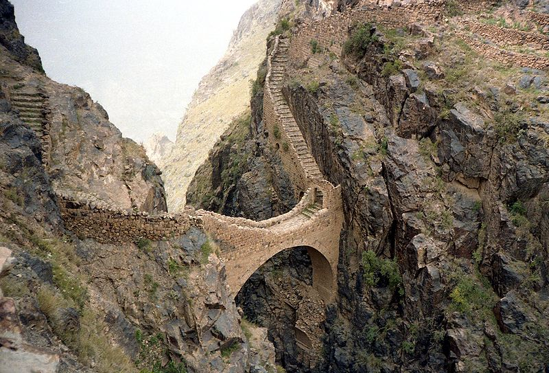 Pod de piatra in Yemen