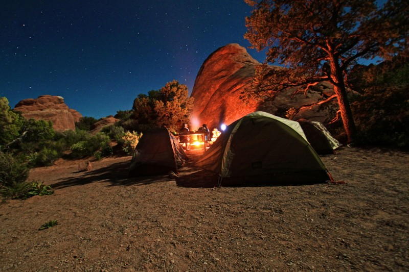 camping in SUA