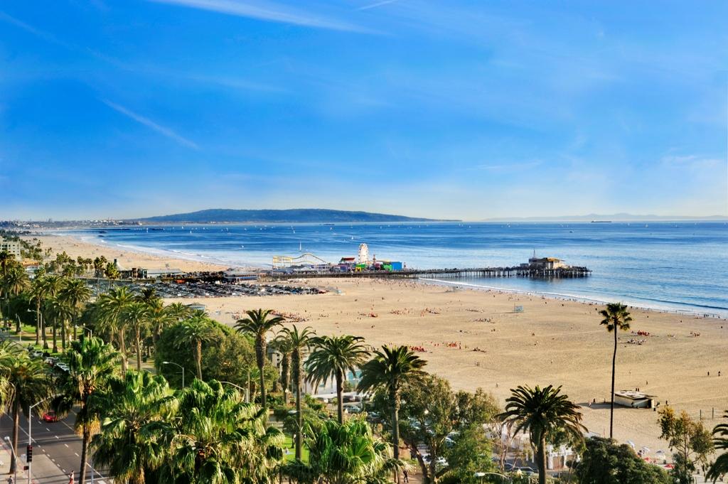 plaja Santa Monica, obiective turistice Los Angele