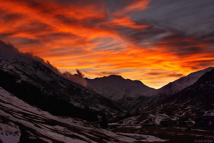 apus in Alpii Evvetieni, cele mai impresionate apusuri din lume