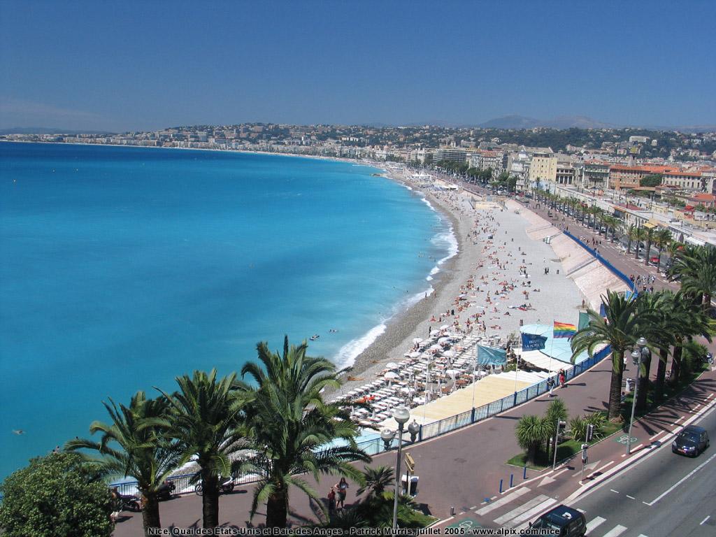 Promenade des Anglais, obiective turistice Nisa