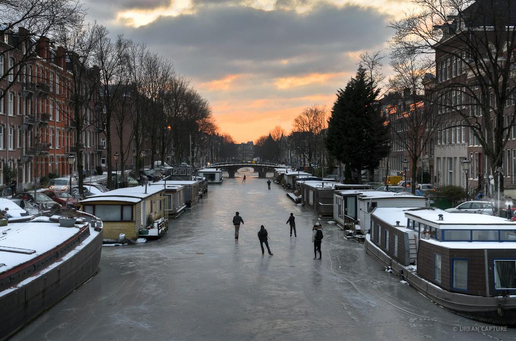 Canal Ice Skating, Amsterdam, Olanda, destinatii populare Craciun