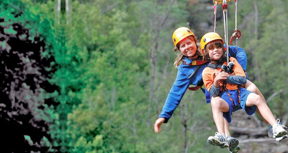 Hollybank Treetops Adventure, cele mai bune linii de tiroliana din lume