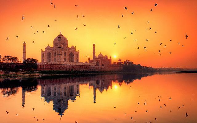 apus la Taj Mahal, India, top apusuri din lume