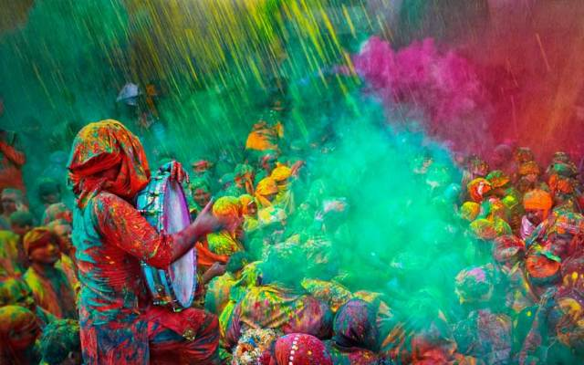 festivalul Holi, India, locuri de vizitat martie